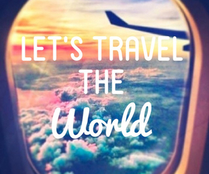 world, travel, and clouds image