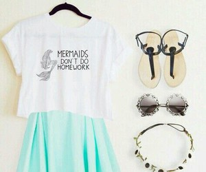 fashion, outfit, and mermaid image