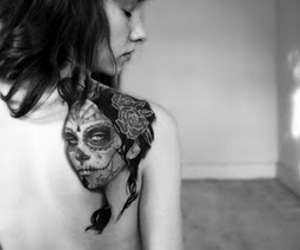 back tattoo, beautiful, and black and white image