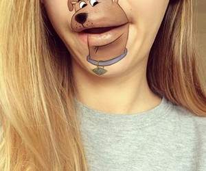 art, lips, and scooby doo image