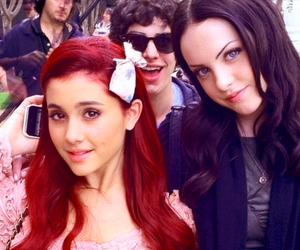 ariana grande, liz gillies, and victorious image