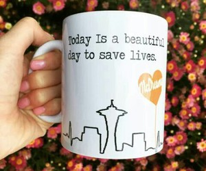 grey's anatomy and cup image