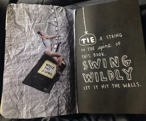 miley cyrus, wreck this journal, and wreck this journal ideas image