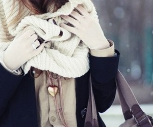 beautiful, girl, and scarf image