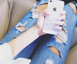 fashion, jeans, and iphone image