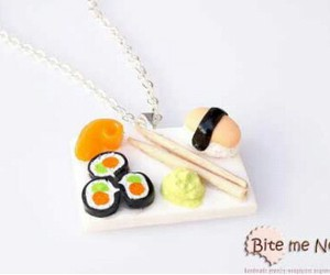 necklace and sushi image