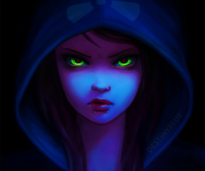 dark, blue, and eyes image