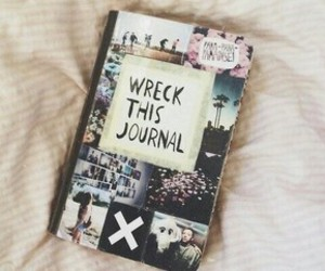 wreck this journal, book, and journal image