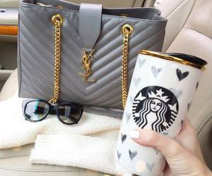 starbucks, bag, and YSL image