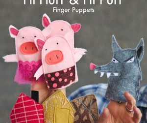 craft, kids, and puppet image