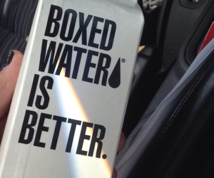 boxed water, grunge, and mood image