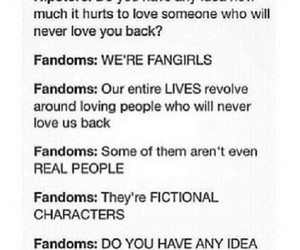 fandom, fangirls, and book image