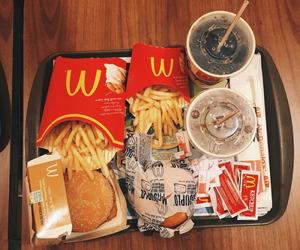 food, burger, and McDonalds image