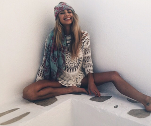 girl, beautiful, and hippie image