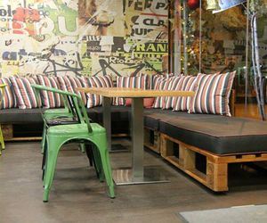 pallets furniture ideas, coffee bar furniture, and food point furniture image