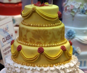princess, belle, and cake image