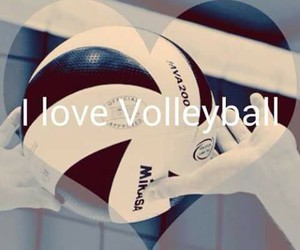 i love volleyball image