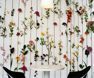 flowers and wall image
