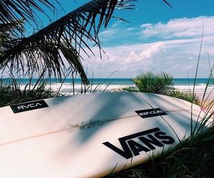 beach, summer, and vans image