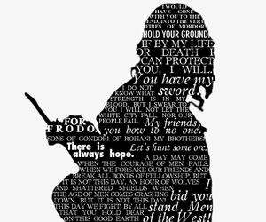 LOTR, aragorn, and quote image