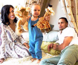 stephen curry, love, and riley curry image
