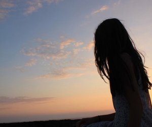 beautiful, silhouette, and girl image
