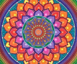 background, colorful, and mandala image