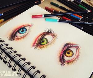 drawing, eyes, and art image