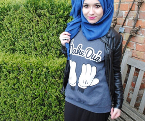 hijab, muslim outfit, and islam image