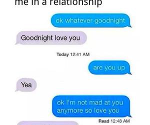 argue, boyfriend, and bye image