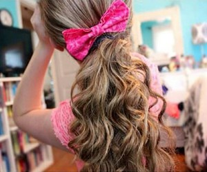 bow, pink, and tumblr image