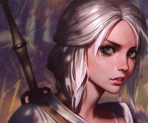 art, ciri, and witcher image