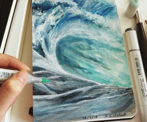 art, drawing, and sea image
