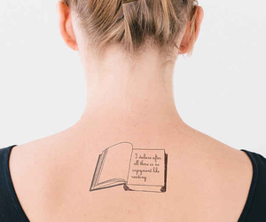 tattoo, book, and quote image