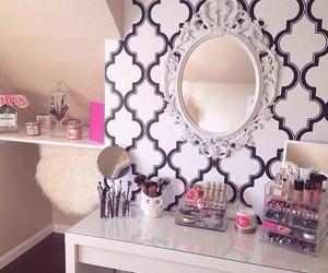 room, make up, and decor image