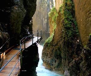 nature, river, and bridge image