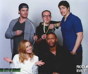 arrow, brandon routh, and david ramsey image