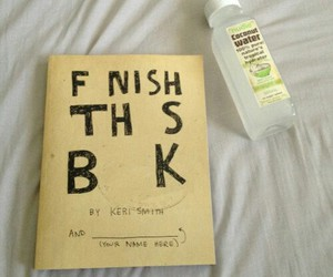 book, tumblr, and finish this book image