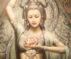 goddess, yin, and kwan image