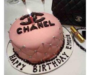 cake, birthday, and chanel image