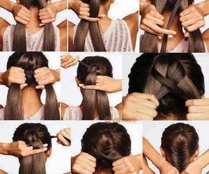 diy, hair, and braid image