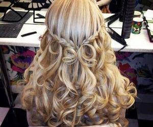 blonde, curls, and braid image