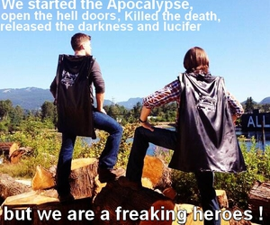 dean winchester, funny, and heroes image
