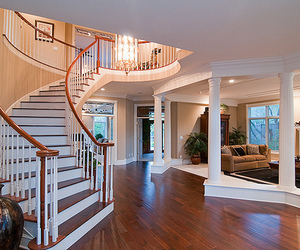 house, luxury, and stairs image