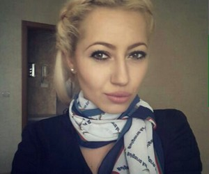 aircraft, flight attendant, and fly image