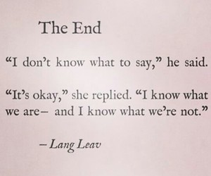 Lang Leav, quote, and the end image