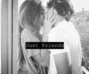just friends, kiss, and sweer image
