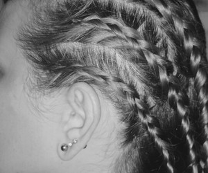black and white, hair, and hairstyles image