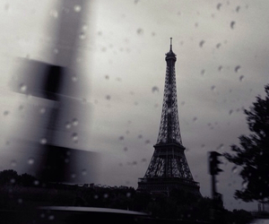 paris and rain image