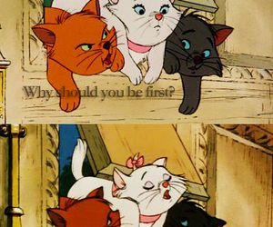 lady, disney, and cat image